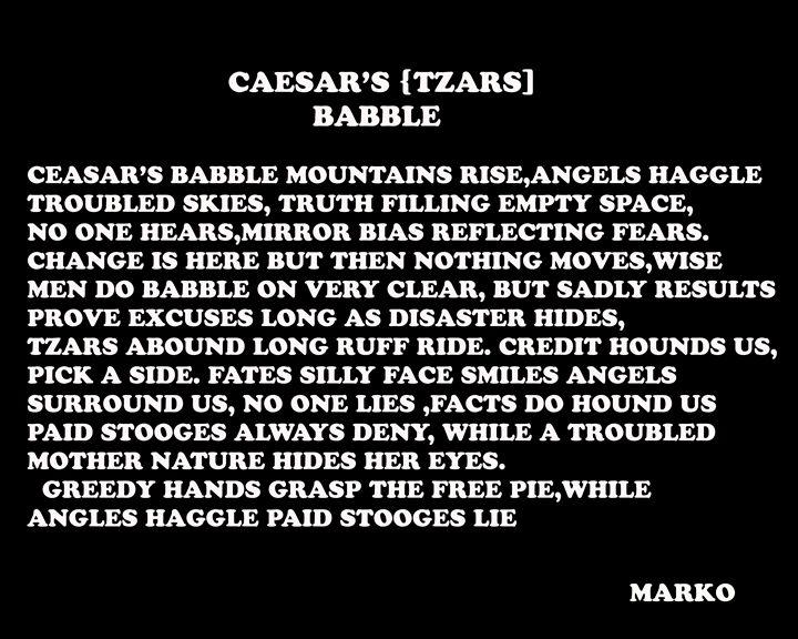 CEASAR'S BABBLE - FANTASORIUM