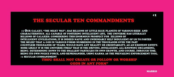 THE SECULAR TEN COMMANDMENTS #1 - FANTASORIUM
