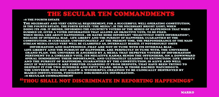 THE SECULAR TEN COMMANDMENTS#5 - FANTASORIUM
