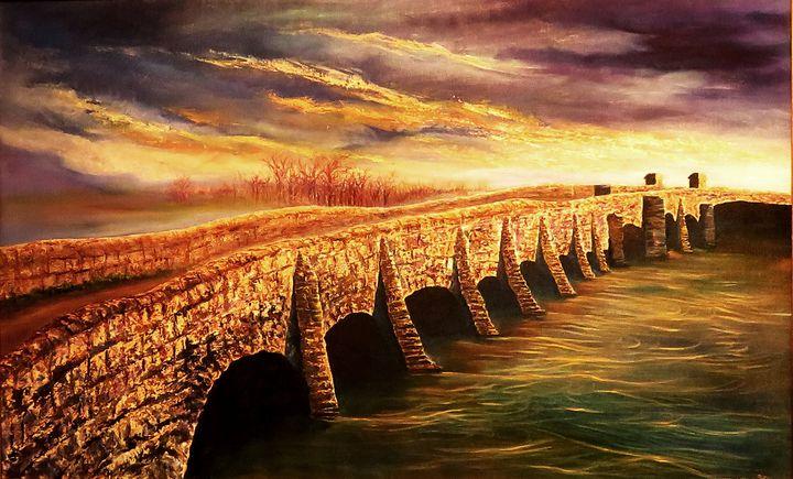 Old bridge on the Arun river - Olexa