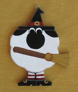 Halloween Ornament - Annie Lane Folk Art