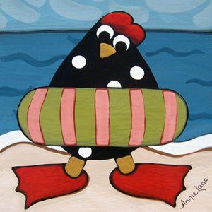 Chickin Dippin - Annie Lane Folk Art