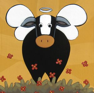 !! HOLY COW !! - Annie Lane Folk Art