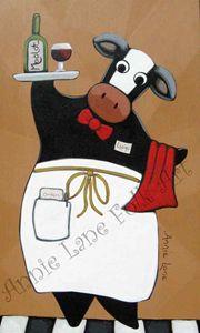 Moo Moo Merlot - Annie Lane Folk Art