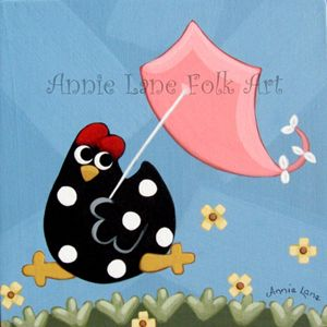 Spring Chicken - Annie Lane Folk Art