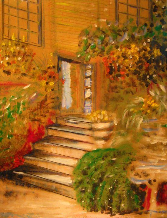 Garden Scene - David Mancuso Gallery of Paintings