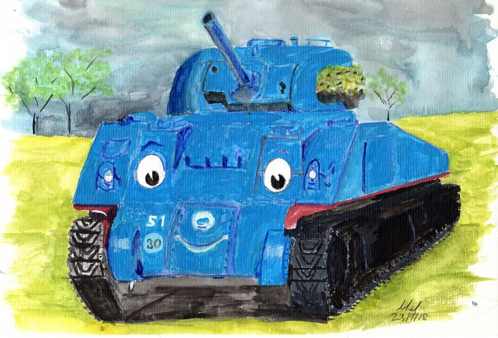 Thomas The Tank - Mel Beasley Arts