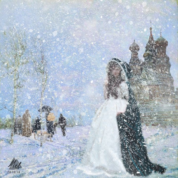 Waiting in the snow. - Mel Beasley Arts