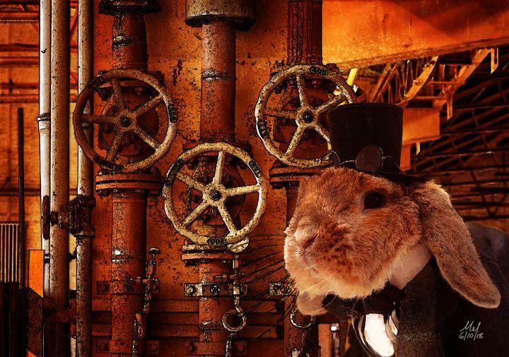 Steampunk Bunny. - Mel Beasley Arts