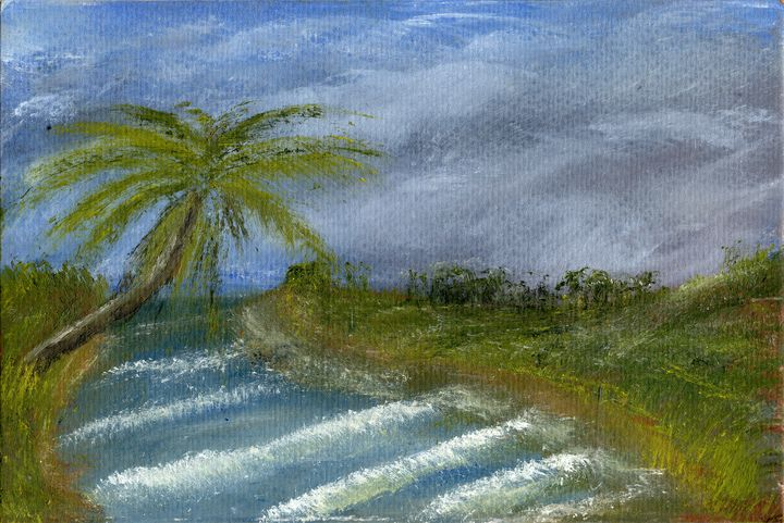Landscape sketch in oils. - Mel Beasley Arts