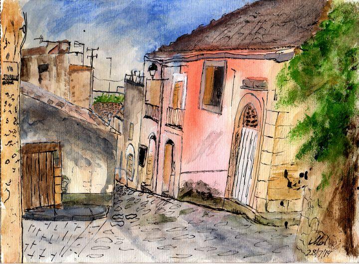 Italian Street - Mel Beasley Arts