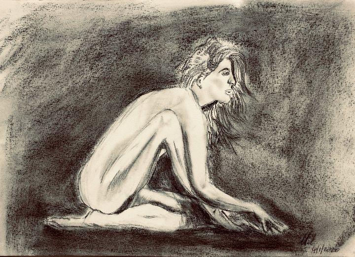 Nude, in charcoal. - Mel Beasley Arts