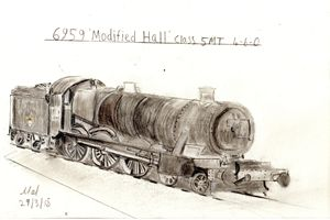 6959 Modified Hall Class 5MT  4-6-0