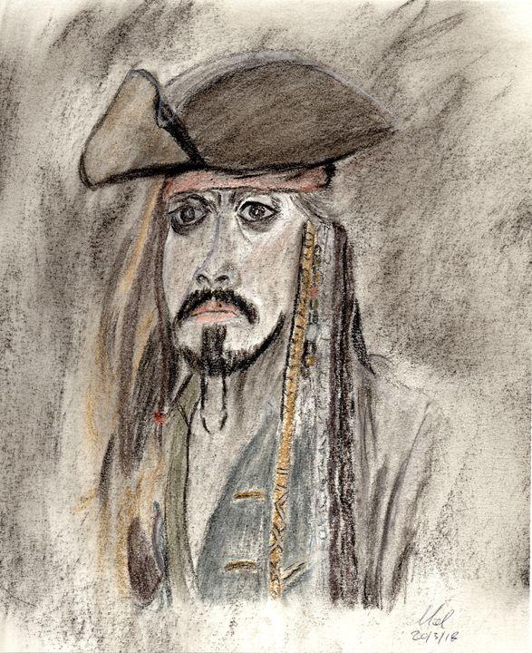 Captain Jack Sparrow - Mel Beasley Arts