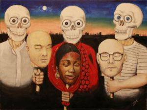 Behind Our Masks - Your Fine Art Store