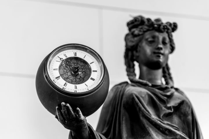 Statue with Clock - Emily O'Donnell's Fine Art Photography