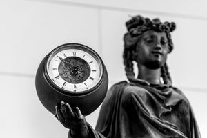 Statue with Clock