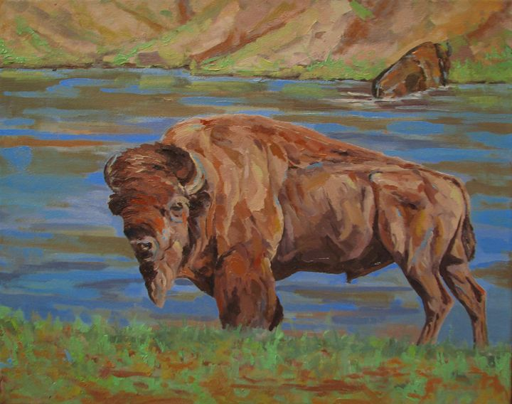 On The Yellowstone - Scott Scherer Fine Art
