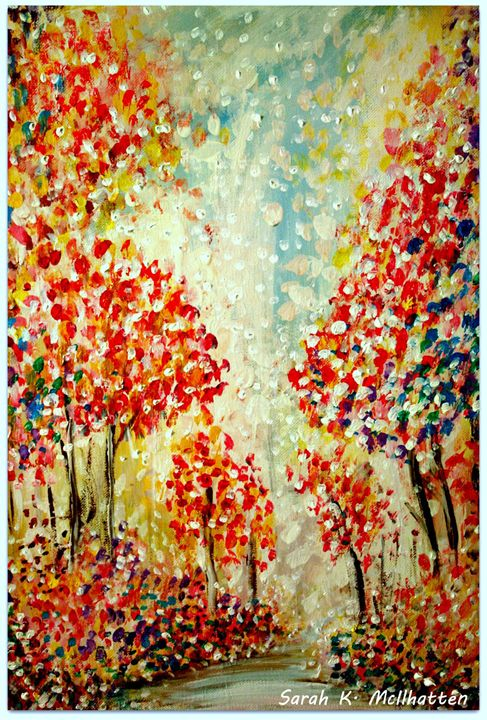A Day in Autumn - Hand Painted by Sarah