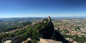 La Vista dalla Cima del Monte Titano
