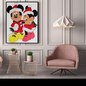 Micky & Minnie Canvas Painting