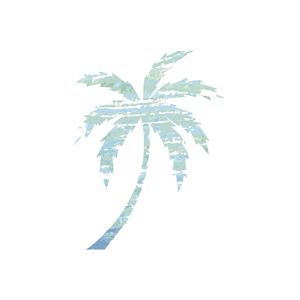 Blue Palm Tree Print