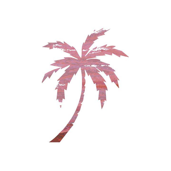 Dark Pink Palm Tree Print - Erin Gardner