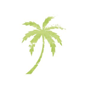 Green Palm Tree print