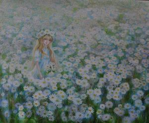 In a camomile field