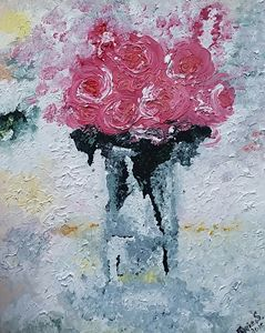 Oil Painting.  Roses.