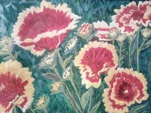 Flower Field of Red Blooms