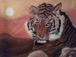 Siberian Tiger at Sunset