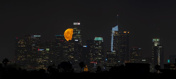Full Moon in Los Angeles City - Ale Moraes Fine Art Photography