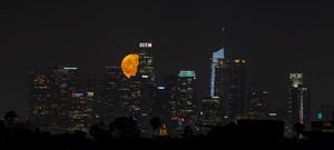 Full Moon in Los Angeles City