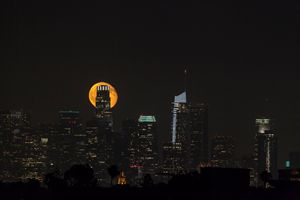 Full Moon in Los Angeles City.