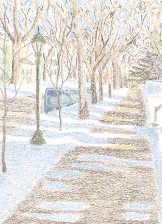 Frogtown in Winter - Bethany Lee's Colored Pencil Landscapes
