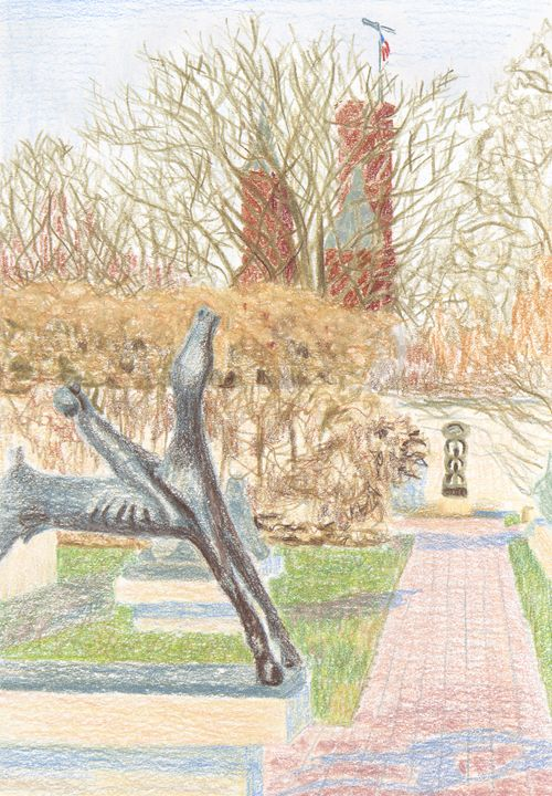 Sculpture Garden - Bethany Lee's Colored Pencil Landscapes