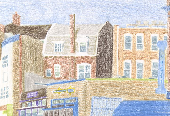 View from Lamont Park - Bethany Lee's Colored Pencil Landscapes