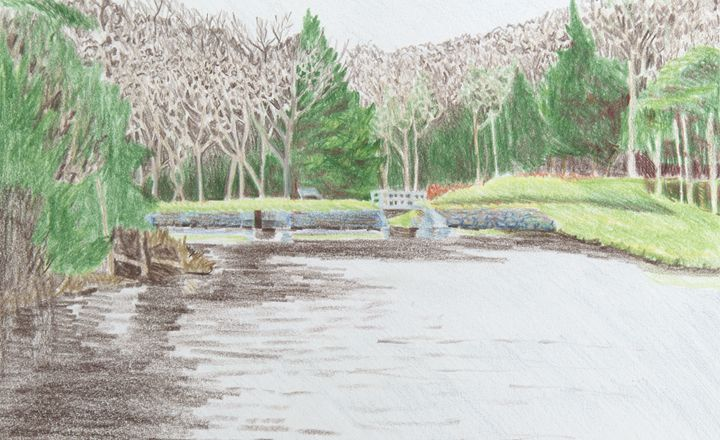 Catskills Lake - Bethany Lee's Colored Pencil Landscapes