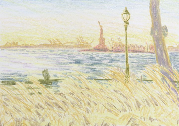 New York Harbor - Bethany Lee's Colored Pencil Landscapes