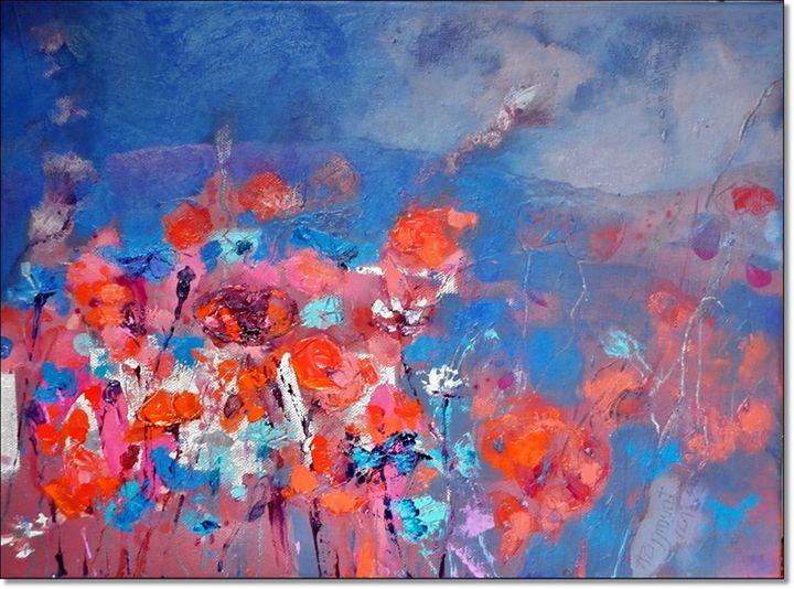 Evening Meadow, june 2013, oil canva - Anna Zygmunt Art