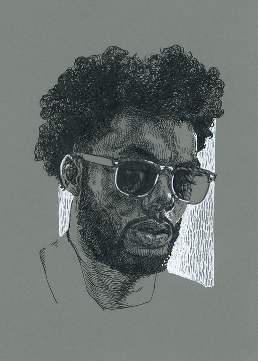 Black man portrait - KatarzynaGagol