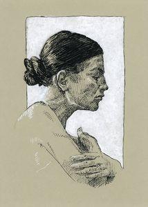 Portrait drawing by Katarzyna Gagol