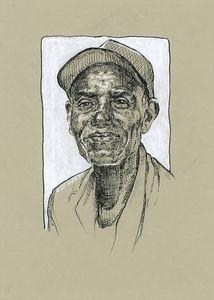 Black old man portrait
