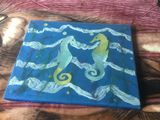 Seahorses on fabric