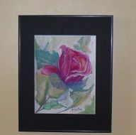 Watercolor Rose painting,Art print,