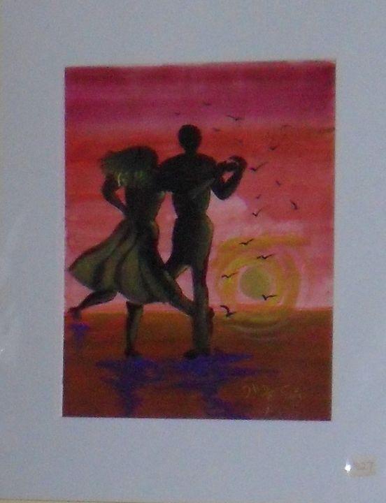 Danging in Red Sunset, Art Print, - Helen georgi de soto