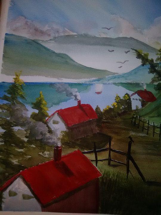The Road Home Original Painting - Helen georgi de soto