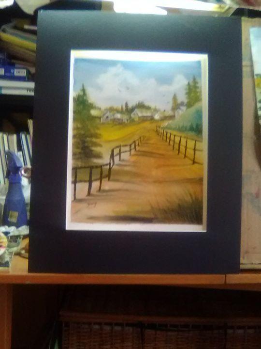 Coming home, Watercolor Painting - Helen georgi de soto