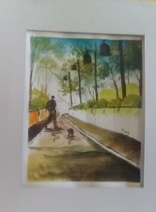 Man with Dog - Helen georgi de soto